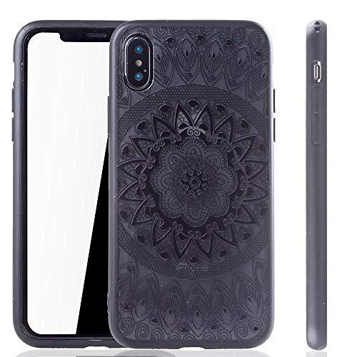 König Design Mandala Hülle geeignet für Apple iPhone X   Silikon Case Back-Cover Motiv Kreis