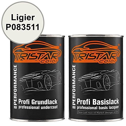 Preisvergleich Produktbild TRISTARcolor Autolack Set Dose spritzfertig Ligier P083511 Blanc Nacre Grundlack + Basislack 2, 0 Liter 2000ml