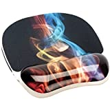 Fellowes 9204001 Mouse Pad con Poggiapolsi Photo Gel, Rainbow Smoke