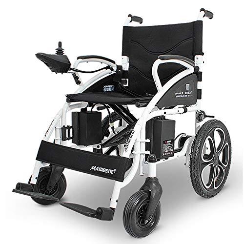 RDJM Elektrischer Rollstuhl, Intelligente Automatische,Faltbar, Frei-Reiten, Rollstuhl