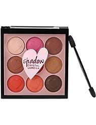 Momola 9 couleur perle Glitter Eye ombre poudre palette maquillage Matte fard à paupières cosmétique (A)