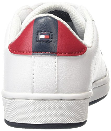 Tommy Hilfiger B3285ASKET 2S, Sneakers basses garçon Blanc (100)