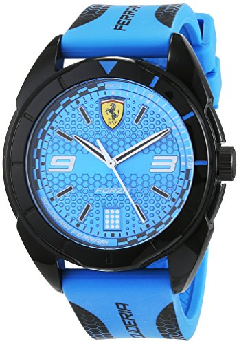 Scuderia Ferrari Unisex Analog Quarz Uhr mit Silikon Armband 830518