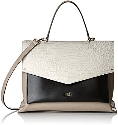 Cavalli Medium handbag First Class 006 - Bolso de asas de Piel para mujer Beige Beige (Sand 016) 31x23x16 cm (B x H x T)