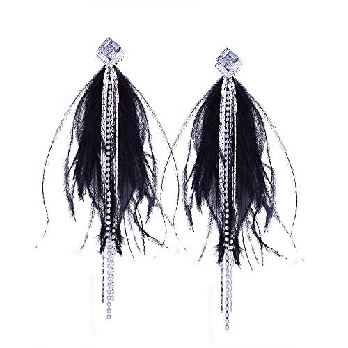 Orecchini a cerchio piccolipiume lunghe delle donne ciondolo orecchio borchie orecchini gioielli ornamenti promessa
