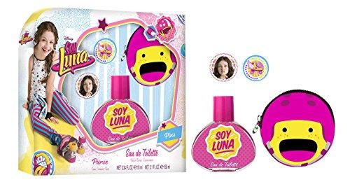 Soy Luna Coffret d'Eau de Toilette 30 ml + Porte-Monnaie + Badges