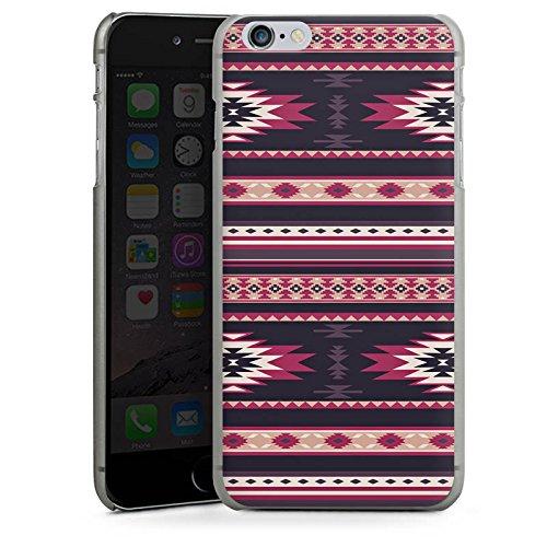 Apple iPhone X Silikon Hülle Case Schutzhülle Ethno Teppich Azteken Muster Hard Case anthrazit-klar