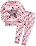 Vaenait Baby Kinder Maedchen Nachtwaesche Schlafanzug-Top Bottom 2 Stueck Set Bling Pink L