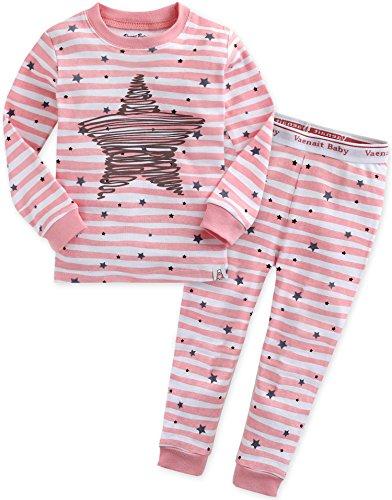 2 Stück Baumwolle Pyjama Bottoms (Vaenait baby Kinder Maedchen Nachtwaesche Schlafanzug-Top Bottom 2 Stueck Set Bling Pink L)