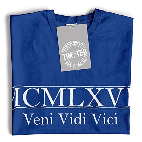 MCMLXVII Veni Vidi Vici Geburtsjahr 1967 50. Geburtstags-Geschenk-Geschenk-Andenken In der römischen Zahl Hergestellt Herren T-Shirt Grey