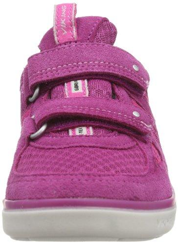 Viking - Scarpe sportive - Indoor Breezy Velcro, Unisex bambini Rosa (Pink (fuchsia/grey 1703))
