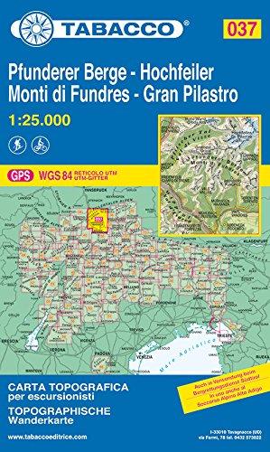 Gran Pilastro. Monti di Fundres 1:25.000