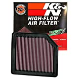 #10: K&N 33-2342 High Performance Replacement Air Filter for Honda Civic