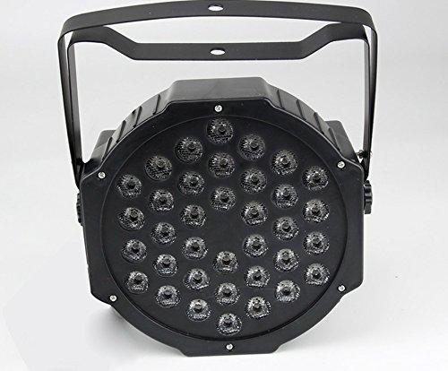 Foco estroboscópico LED (RGB, 18LED de colores de 18W, efecto discoteca con...