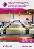 Preparación del sistema de entintado, humectador y de los dispositivos de salida y acabado en máquinas de impresión offset. ARGI0109