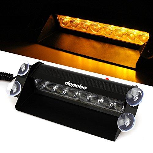 Frontblitzer Dopobo® 8 LED Straßenräumer, Frontblitzer - Feuerwehr - Polizei (Gelb) - Orangen-geschmack-pakete