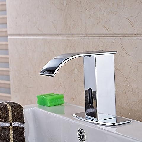 LYNDM Agua fría de manos automático Sensor táctil Grifo lavabo grifo grifo del baño Material de
