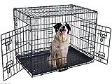 Transportkäfig Drahtkäfig Hundebox Hundekäfig Transportbox Gitterbox Reisebox (XL/107 x 71 x 79cm)