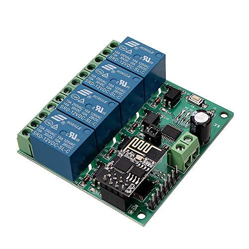 ILS - DC12V ESP8266 Quatre canaux WiFi Relais IOT Smart Home Phone APP Switch Remote Control