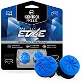KontrolFreek FPS Freek Edge für PlayStation 4 (PS4) Controller | Performance Thumbsticks | 1 x Hoch Konvex, 1 x Kurz Konvex | Blau