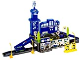 Toyshine Police Station Track Set with 4 Cars and Accessories - 2