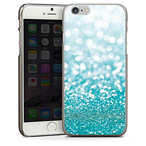 Apple iPhone 4 Housse Étui Silicone Coque Protection Paillettes Brillance Bling-bling CasDur anthracite clair