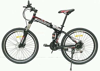 "Pedalease Black Fusion 26""wheel Folding Mountain Bike 2016 mod"
