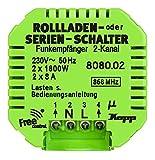 Kopp 808002224 Funk-Empfänger Free-Control 2 Kanal/Jalousie Neue Generation