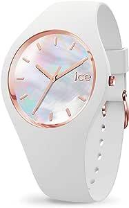 Ice-Watch - ICE pearl White - Montre blanche pour femme avec bracelet en silicone