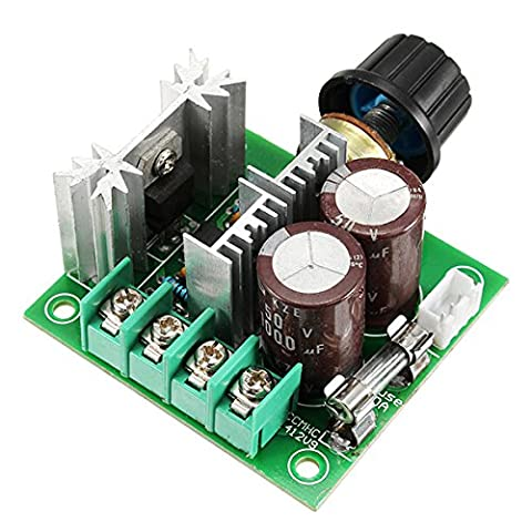 ILS - 3 pieces DC 12V-40V 10A 13Khz Motor Speed Controller Pump PWM Stepless Speed Change Speed Control Switch Large Torque 50V 1000uF Large Capacitor IRF3205 Power Tube With Over-Voltage Protection Function