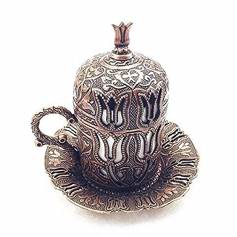 SSBY La Turquie vintage tasse à café en porcelaine design tulipe style aristocratique de cuivre