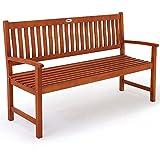 Deuba Gartenbank Maxima 3-Sitzer | FSC-zertifiziertes Eukalyptusholz In- & Outdoor | Holzbank Sitzbank Parkbank Bank