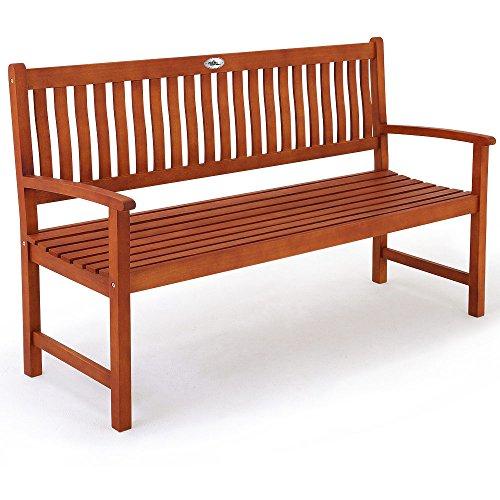 Deuba Gartenbank Maxima 3-Sitzer | FSC®-zertifiziertes Eukalyptusholz In- & Outdoor | Holzbank Sitzbank Parkbank Bank - 3 Schöne Holz