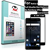 Mobonic |2.5D 9H Full Cover| |Full Glue| |No Dot Patterns No Rainbow Guaranteed| |Gorilla Glass| |Scratch Shock Proof| |Anti Explosion| |Tempered Glass| Screen Protector Shield For Nokia 6 [0.3mm 2.5D Curved Ultra HD Clear Proper Camera And Sensor Cut]