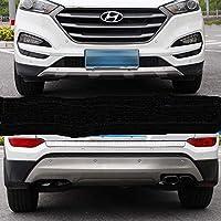 Exclusive para Hyundai Tucson 08/2017 - 2018 - 2019 Protección parachoques en Acero Inoxidable Piedra Gris Delante y detrás Crossover
