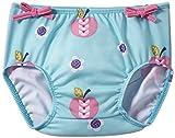 Splash About NCAD6 - Cubrepañales para niña, color azul con diseño de manzanas y margaritas, 6-12 meses