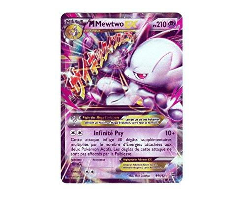 Carte Pokémon 64/162 MEGA M MEWTWO EX HOLO 210 PV - Série XY IMPULSON TURBO XY8 - NEUVE FR RARE