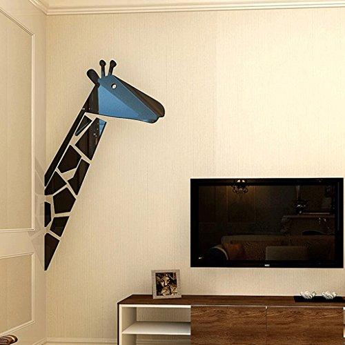 WTL Giraffe Animal 3D Wall Stickers Camera da Letto per Bambini ...