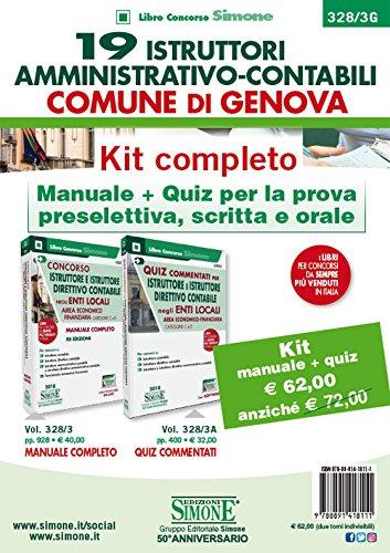 19 Istruttori Amministrativo-Contabili Comune di Genova. Kit completo