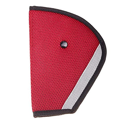 JaneDream 1 Pc Adjuster Kid Seat Belt Pad Clip Washable,Do Not Fade,Do Not Shrink,Without Distortion Wine red