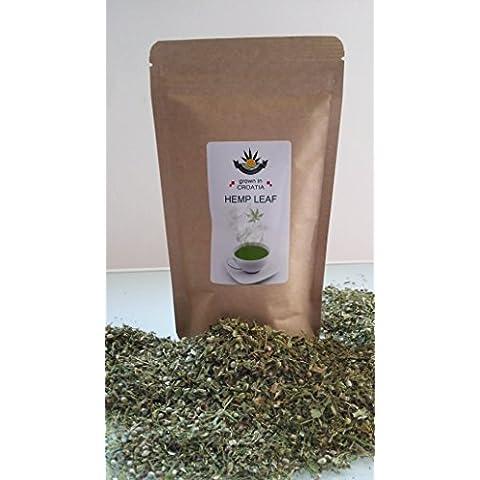 Eco-cannabis CBD - Tè biologico alla canapa, fiori e foglie, 50 g