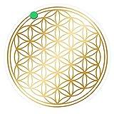 atalantes spirit - Blume des Lebens-Aufkleber Abriebfest - Farbe Gold - Ø 5 cm - 5 Stück - Druck auf transparenter Folie - Lebensblume-Sticker im Set