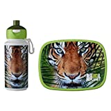 Rosti Mepal Animal Planet Childs Lunch Box And Pop Up Drink Bottle, Tiger