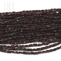 Be You colore rosso intenso naturale indiano di gemme granato perline pianura rettangolo 5 linee sciolto 13 Inch Strand