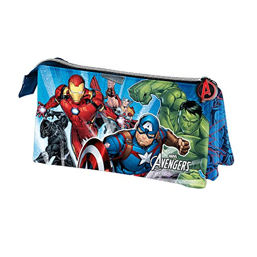 Karactermania The Avengers Powerful-Triple Pencil Case Federmäppchen, 23 cm, Blau (Blue)