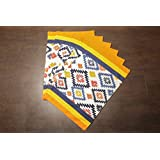 Dekor World Multi Abstract Printed Cotton Place Mat(Pack Of 6 Pcs)