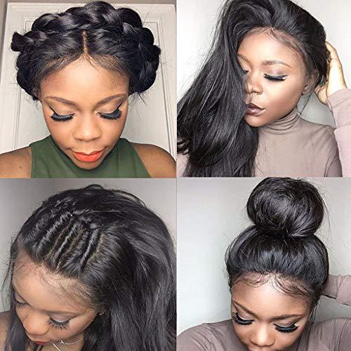 -Perücke Lange synthetische Haare Borte vordere Perücke für Damen halb handgebunden 24 Inches (D) ()