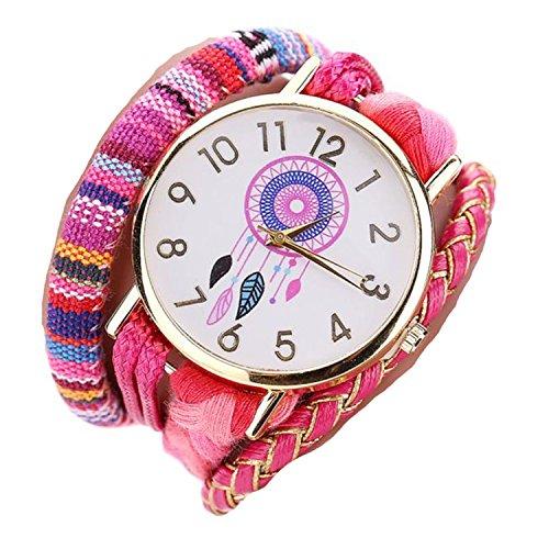 ZARU Las mujeres y niñas elegante estilo y elegante reloj de punto decorativo HP
