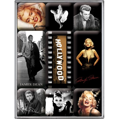 Nostalgic-Art 83003 Celebrities - Hollywood, Magnet-Set (9-teilig)