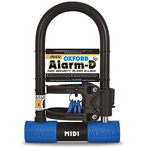 Oxford Unisex D Midi Alarmed Shackle, Black/Blue, One Size by Oxford